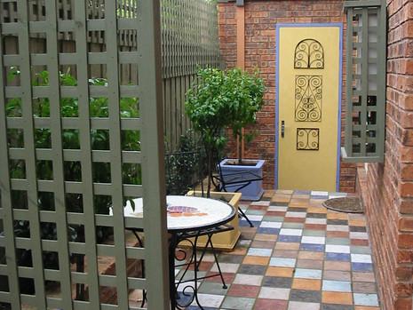 Landscape plan courtyard