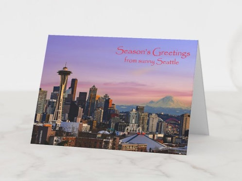 Sunny Seattle - 5x7 Greeting Card (Pack of 8)