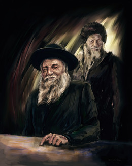 "Portrait of rabbis, including haRav Kook zt""l."