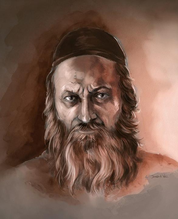 Portrait study of a rabbi