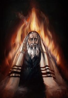 Rabbi wearing a tallit
