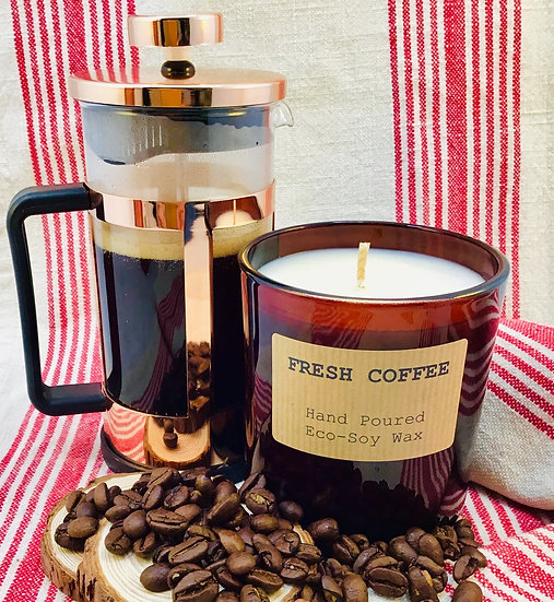 Fresh Coffee Soy Wax Candle - 48 Hour Burn Time