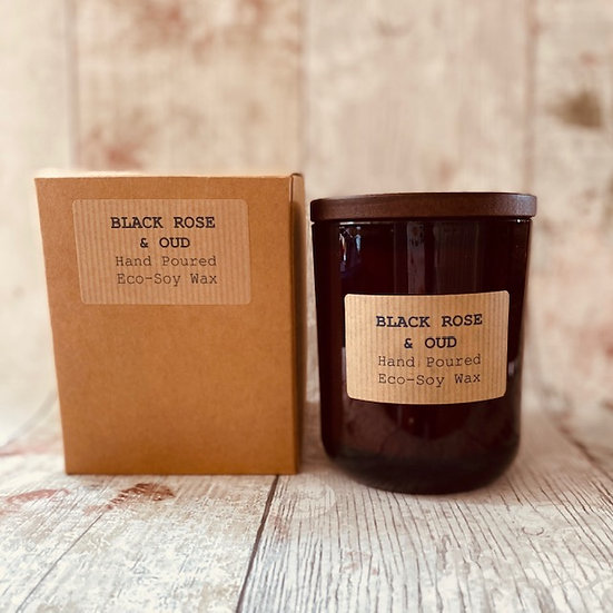 Black Rose & Oudh Candle - 48 Hour Burn Time