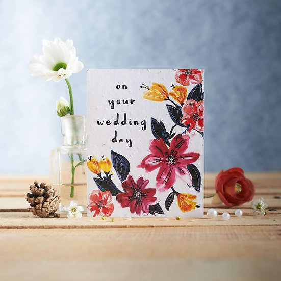 On Your Wedding Day - Plantable Seed Card