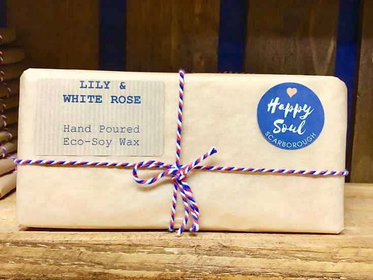Soy Wax Melt Bar - Lily & White Rose