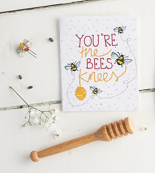 You're The Bees Knees - Wildflower Plantable Seed Card