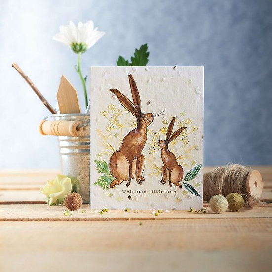 Welcome Little One - Plantable Seed Card