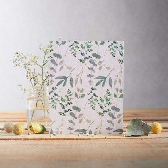 Pretty Greenery Wildflower Plantable Seed Card