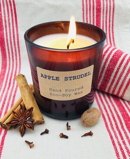 Apple Strudel Soy Wax Candle - 48 Hour Burn Time