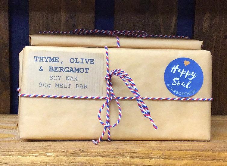 Soy Wax Melt Bar | Thyme, Olive & Bergamot