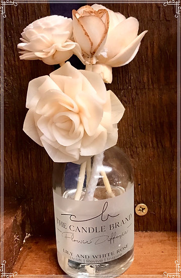 Flower Diffuser - Lily & White Rose
