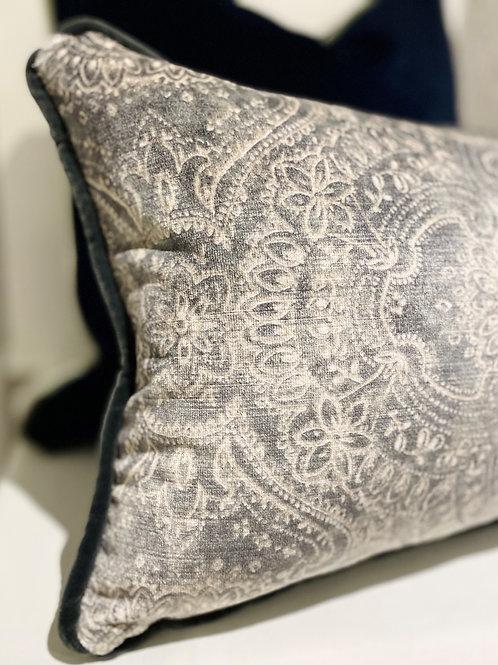 Labyrinth - Italian Velvet Oblong Cushion
