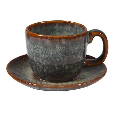 Dakaya Ceramic Espresso Cup and Saucer
