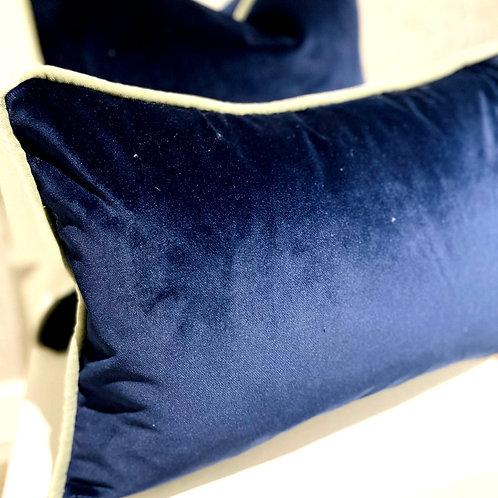 Indigo - Italian Velvet Oblong Cushion