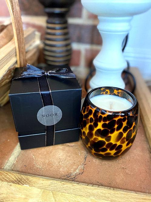 Leopard Print candle jar