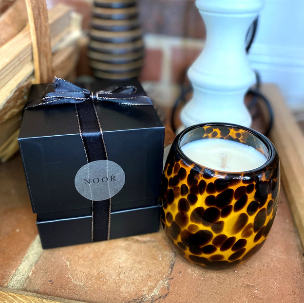 Leopard Print Candle