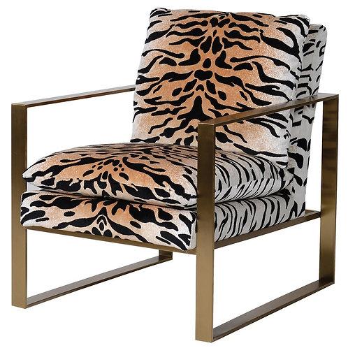 Gold Tiger Print Chair