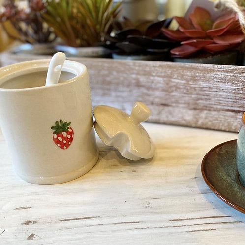 Ceramic Jar and Spoon