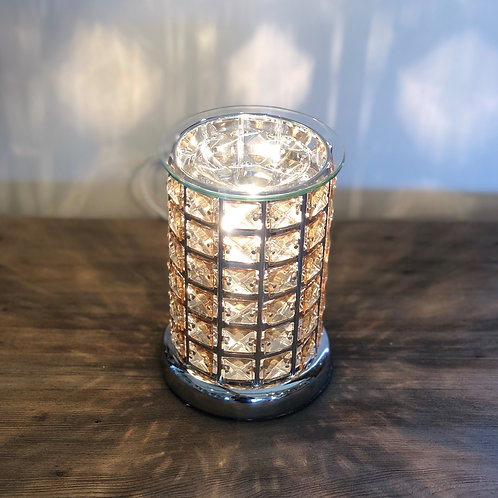 Desire Aroma Silver & Amber Touch Lamp