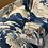 Thumbnail: Blue floral Oxford Cushion