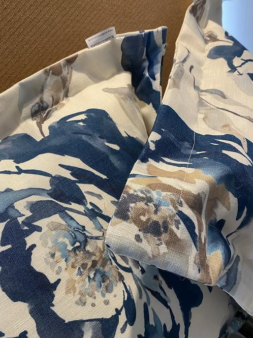 Blue floral Oxford Cushion