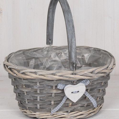 Natural Wicker Trug Basket, 26cm