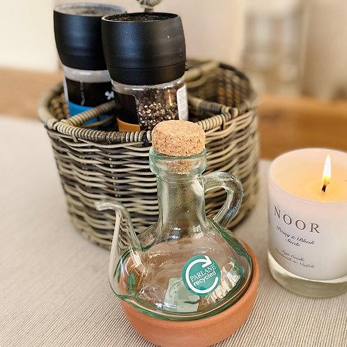 Vinaigrette Bottle with Terracotta base