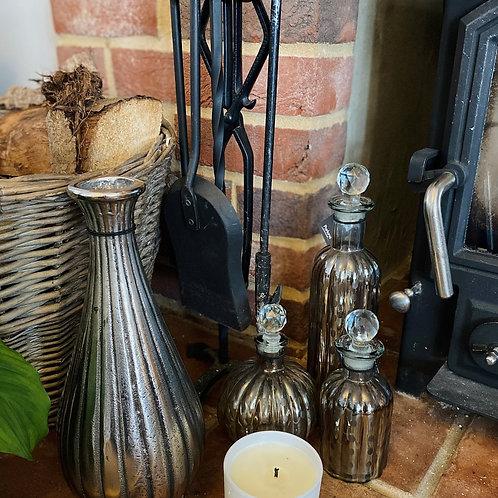 Tall Silver Vase