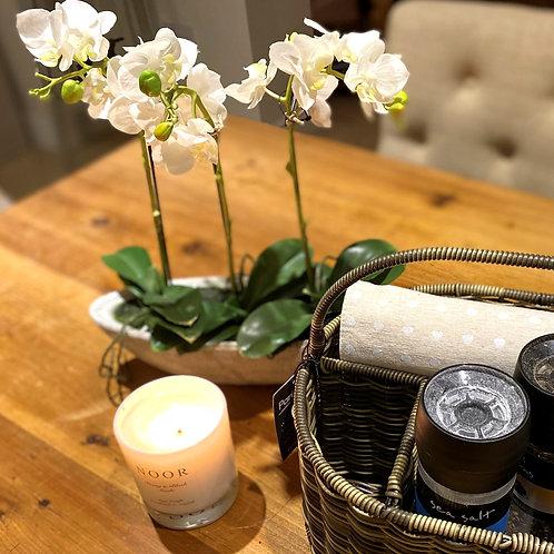 Faux White Orchid