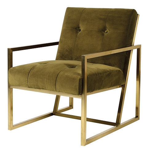 Rogan Green Metal Framed Chair