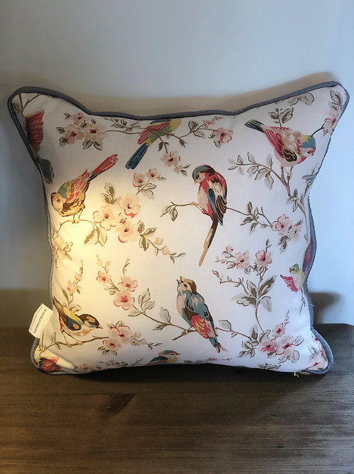 Cath Kidston - Birds and Roses Pipped Cushion