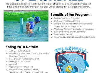 Spring Splashball Registration is Open
