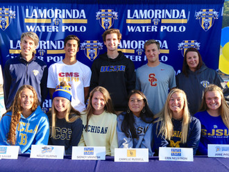 LAMO honors graduating seniors who have committed to playing water polo in college