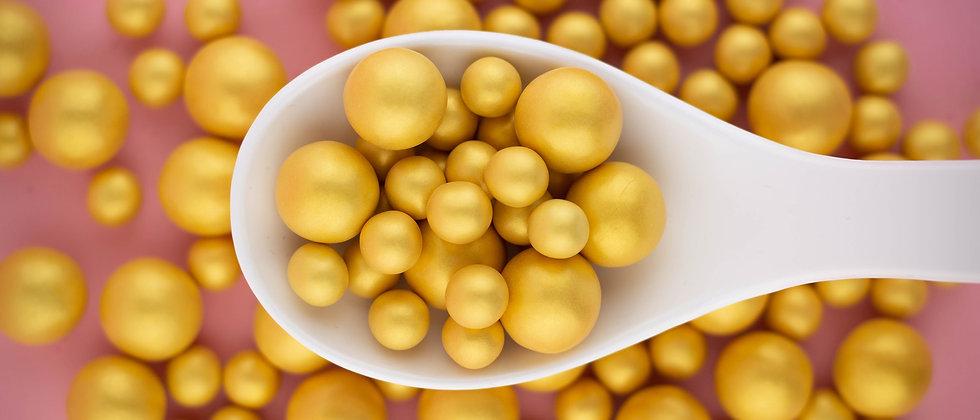 Knusprige Kugel - Gold