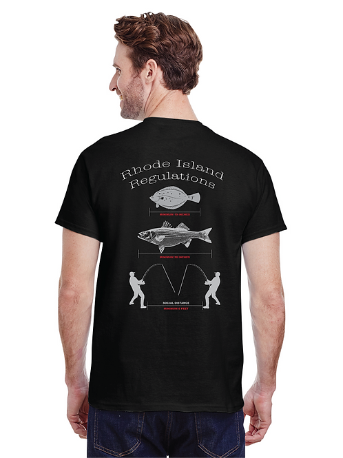 Social Distancing For Anglers Tee Shirt