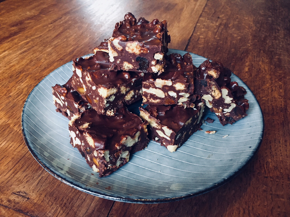 Clare's Walnut, Apricot and Ginger Tiffin