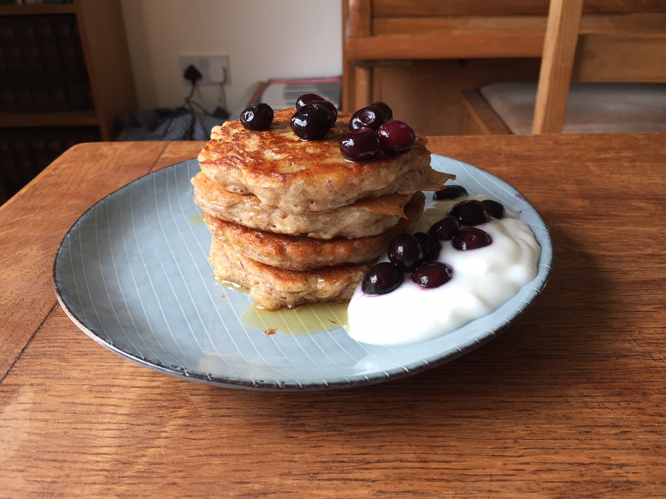 Clare's apple and cinnamon pancakes