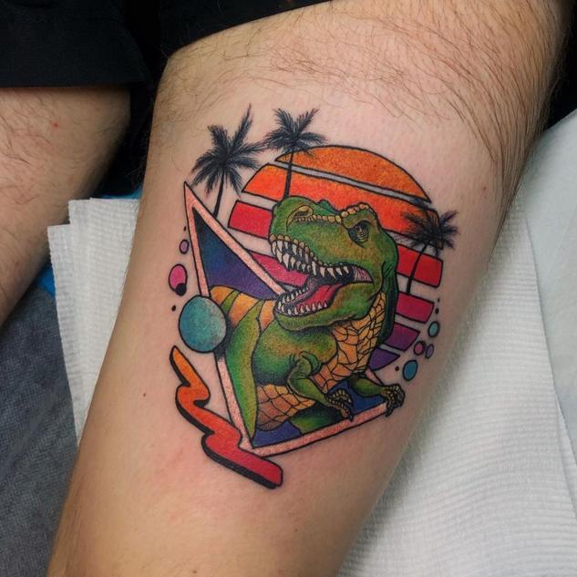 Modern Dinosaur Tattoo