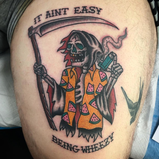 Traditional Reaper (Asthma Tattoo)