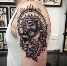 Traditional Lemmy Tattoo