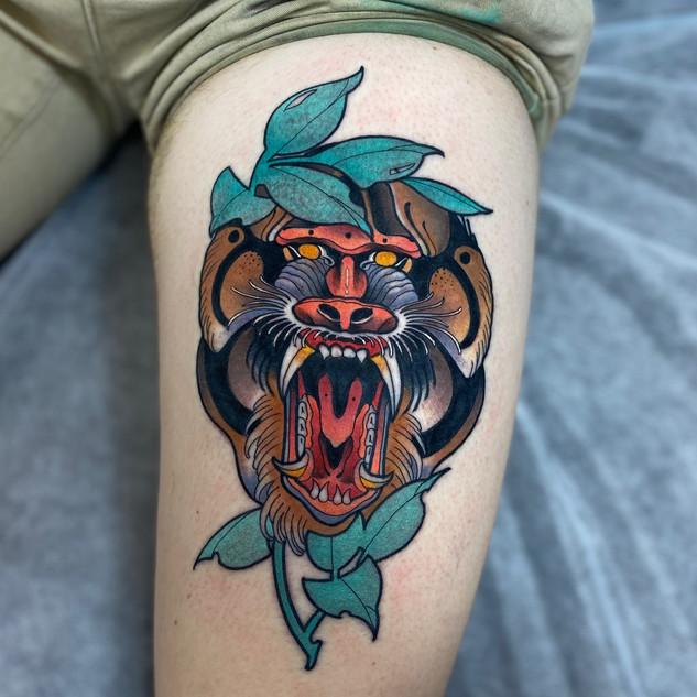 Neo-Trad Baboon by Jamie Kirchen