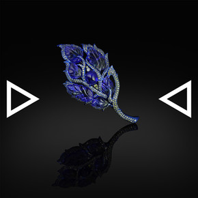 The Blue Flames of Cyclopes Brooch