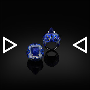 The Deepblue Iris Love Ring