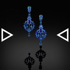 The Blueice Glacier Earrings
