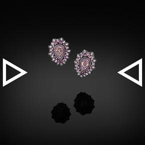The Dentelle Française Rosée Earrings