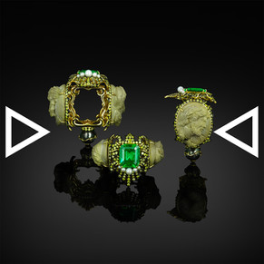 The Emerald Thunder of Zeus Ring