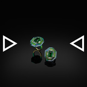 The Abalone Emerald Ring