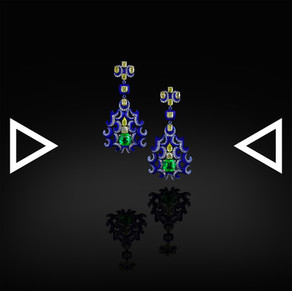The Quilin and Phoenix Earrings