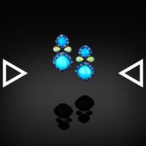 The Matryoshka Blue Earrings