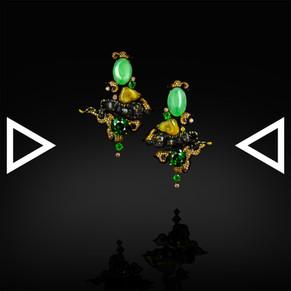 The Waghoba With Green Lunar Earrings